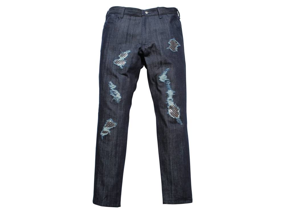 Distressed jeans with rivets DARIUS