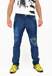 Distressed Jeans NERO