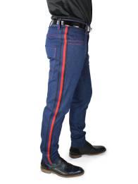 Jeans STEVEN mit rot-blauen Streifen entlang der Seitennaht